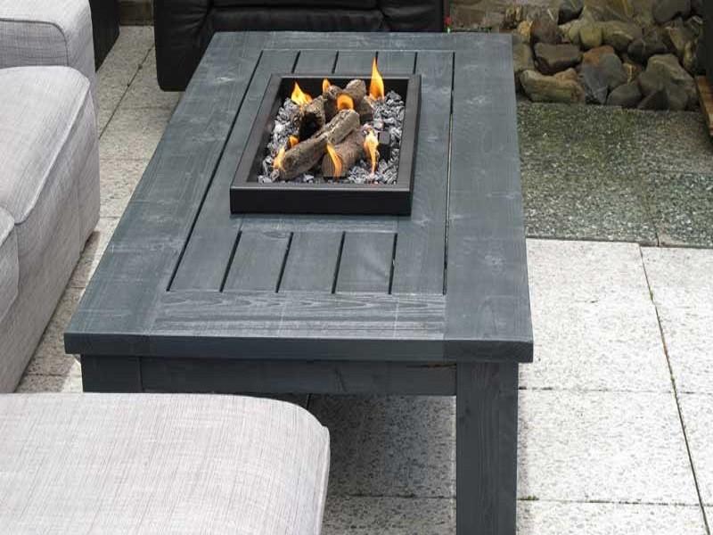 Tafel Met Haard : Inbouw vuurtafelmodule met profielrand terrashaarden de groot