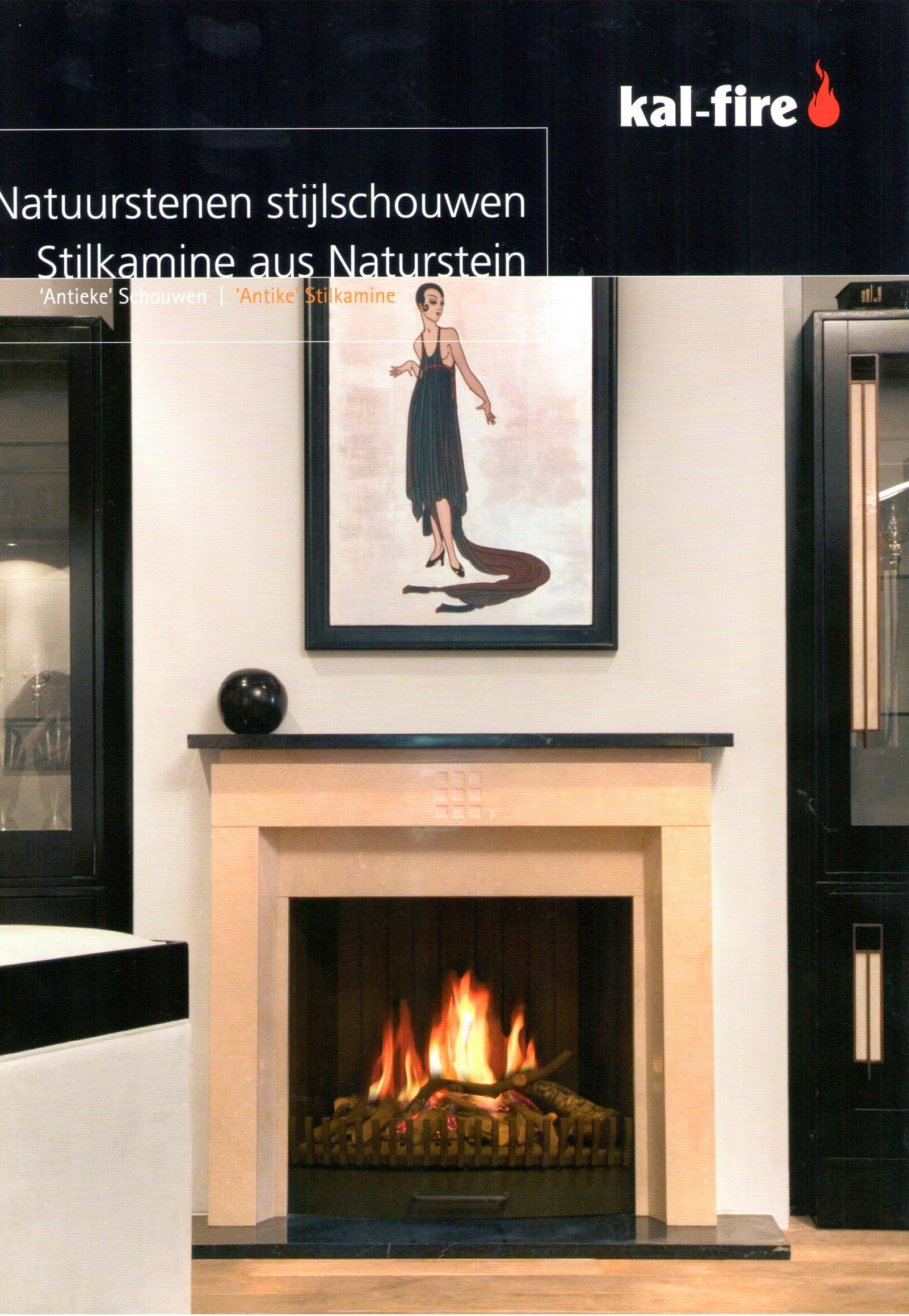 kal fire natuurstenen schouwen de groot kachels. Black Bedroom Furniture Sets. Home Design Ideas